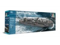 Italeri 1/35 Schnellboot Typ S-38 modello in kit di Montaggio