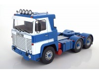 ROAD KINGS 1/18 MOTRICE SCANIA LBT 141 BIANCO BLU 1976