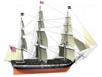 Billing Boats 1/100 fregata pesante USS Constitution scatola di montaggio