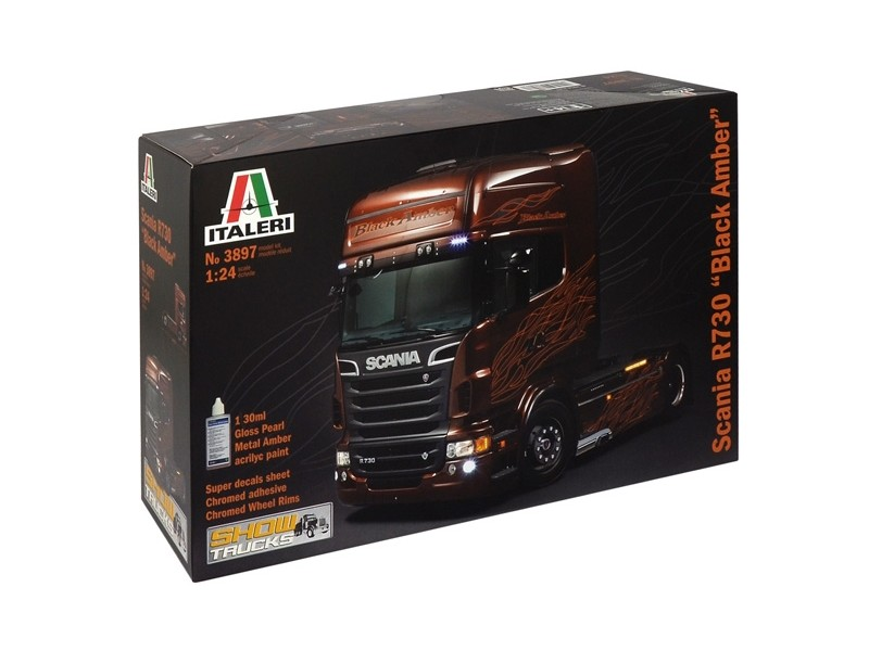 Italeri 1/24 SCANIA R730 ''BLACK AMBER'' kit di Montaggio
