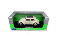 WELLY 1/18 VOLKSWAGEN CLASSIC BEETLE COLOR CREMA MODELLINO