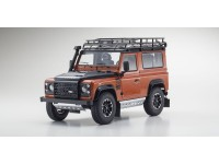 Kyosho 1/18 Land Rover Defender 90 Adventure Phoenix Orange modellino