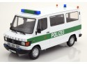 KK-SCALE 1/18 MERCEDES 208D BUS 1988 POLIZEI AMBURGO MODELLINO