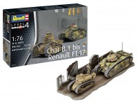 Revell 1/76 Char. B.1 bis & Renault FT.17 modelli in kit di montaggio