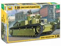 Zvezda 1/35 T-28 carro armato medio Sovietico modello in kit di montaggio