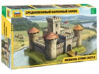 Zvezda 1/72 castello medievale modello in kit di montaggio