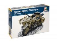 Italeri 1/9 BMW R75 moto militare con sidecar Scatola di Montaggio