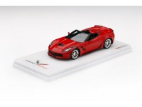 TSM MODEL 1/43 CHEVROLET CORVETTE GRAND SPORT CONVERTIBLE 2017 ROSSO TORCIA MODELLINO