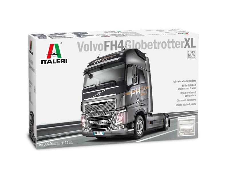 ITALERI 1/24 VOLVO FH4 GLOBETROTTER XL MODELLINO DA MONTARE