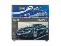 Revell 1/24 AUDI R8 model set con colori