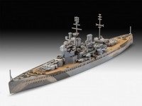Revell 1/1200 HMS King George V model set con colori
