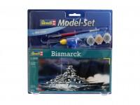Revell 1/1200 corazzata Bismarck model set con colori