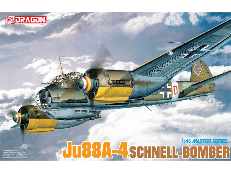 Dragon 1 48  Ju88A-4 SCHNELL-BOMBER modellino aereo in kit  très populaire