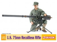 Dragon 1/6 U.S. 75mm Recoilless Rifle modellino in kit
