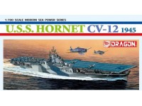 Dragon 1/700 portaerei U.S.S. Hornet CV-12 1945 modellino in kit