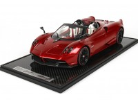BBR Models 1/12 Pagani Huayra Roadster red carbon Modellino