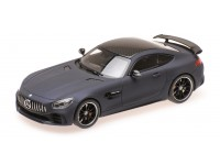 ALMOST REAL 1/43 MERCEDES AMG GT R LEATHER MATT BLUE 2017 MODELLINO