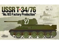 "ACADEMY 1/35 USSR T-34/76 ""No.183 Factory Production"" MODELLO IN KIT DI MONTAGGIO"