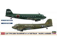 HASEGAWA 1/200 L2D TYPE ZERO TRANSPORT & C-47 SKYTRAIN PACIFIC CARRIERS