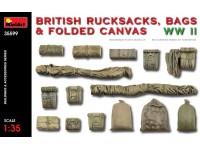 MINIART 1/35 BRITISH RUCKSACKS BAGS & FOLDED CANVAS WW2 KIT MODELLISMO MILITARE