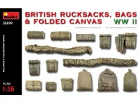 MINIART 1/35 BRITISH RUCKSACKS BAGS & FOLDED CANVAS WW2 KIT MODELLISMO MILITARE
