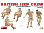 MINIART 1/35 BRITISH JEEP CREW KIT FIGURINI IN PLASTICA