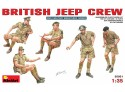 MINIART 1/35 BRITISH JEEP CREW KIT FIGURINI IN PLASTICA