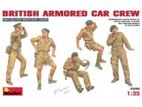 MINIART 1/35 BRITISH ARMORED CAR CREW KIT FIGURINI IN PLASTICA
