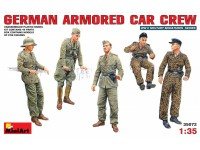 MINIART 1/35 GERMAN ARMORED CAR CREW KIT FIGURINI IN PLASTICA