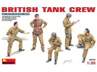 MINIART 1/35 BRITISH TANK CREW KIT FIGURINI IN PLASTICA