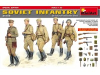 MINIART 1/35 SOVIET INFANTRY SPECIAL EDITION KIT FIGURINI IN PLASTICA