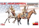 MINIART 1/35 U.S. HORSEMEN. NORMANDY 1944 KIT FIGURINI IN PLASTICA