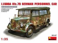 MINIART 1/35 L1500A (Kfz.70) GERMAN PERSONNEL CAR KIT MODELLISMO MILITARE