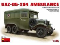 MINIART 1/35 GAZ-05-194 AMBULANCE KIT MODELLISMO MILITARE