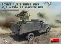 MINIART 1/35 SOVIET 1,5 t. TRUCK - M-4 Maxim AA Machine Gun KIT MODELLISMO MILITARE