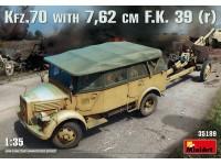 MINIART 1/35 Kfz.70 & 7,62 cm F.K. 39 ( r ) KIT MODELLISMO MILITARE