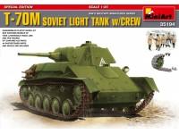 MINIART 1/35 T-70M SOVIET LIGHT TANK KIT MODELLISMO MILITARE