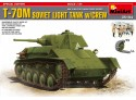 MINIART 1/35 T-70M SOVIET LIGHT TANK KIT MODELLISMO MILITARE