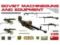 MINIART 1/35 SOVIET MACHINEGUNS AND EQUIPMENT SCATOLA DI MONTAGGIO