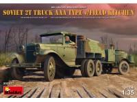 MINIART 1/35 SOVIET 2t TRUCK AAA TYPE WITH FIELD KITCHEN SCATOLA DI MONTAGGIO