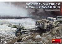 MINIART 1/35 SOVIET 2T 6X4 TRUCK & 76-mm USV-BR GUN SCATOLA DI MONTAGGIO