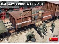 MINIART 1/35 RAILWAY GONDOLA 16,5-18t SCATOLA DI MONTAGGIO