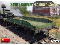 MINIART 1/35 SOVIET RAILWAY FLATBED 16,5-18t SCATOLA DI MONTAGGIO
