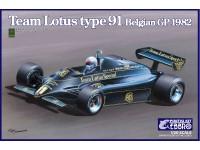 Ebbro 1/20 Team Lotus Type 91 GP Belgio 1982 scatola di montaggio