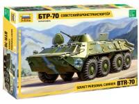 ZVEZDA 1/35 TRASPORTATORE CORAZZATO BTR-70 MODELLO IN KIT DI MONTAGGIO