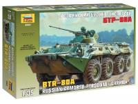 ZVEZDA 1/35 BTR-80A MODELLO IN KIT DI MONTAGGIO