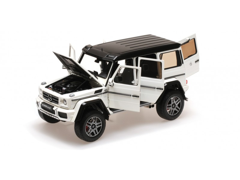 ALMOST REAL 1/18 MERCEDES BENZ G500 4×4² BIANCA MODELLINO