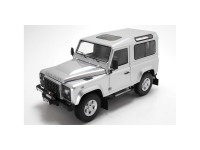 Kyosho 1/18 Land Rover Defender 90 Indus silver modellino