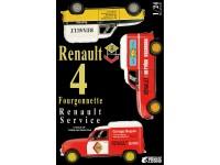 Ebbro 1/24 Renault 4 Fourgonnette Service scatola di montaggio