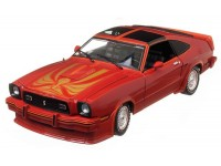 Greenlight 1/18 Ford Mustang II King Cobra Red with Gold Cobra and Orange Accents modellino